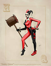 Harley Quinn Pinup Art by Matt Johnson