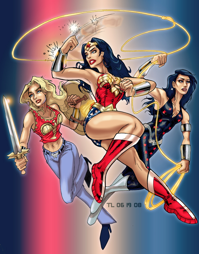 DC Comic's Amazon Trio by DragonArcher