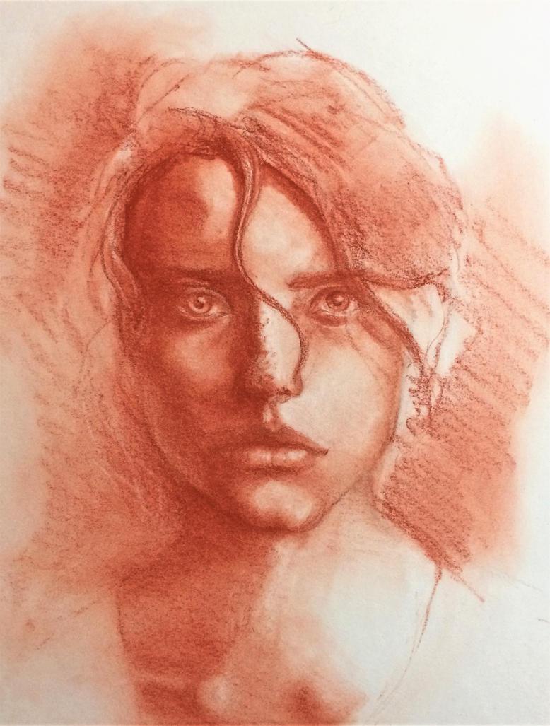 Portrait study 1 by Whitefeatherink