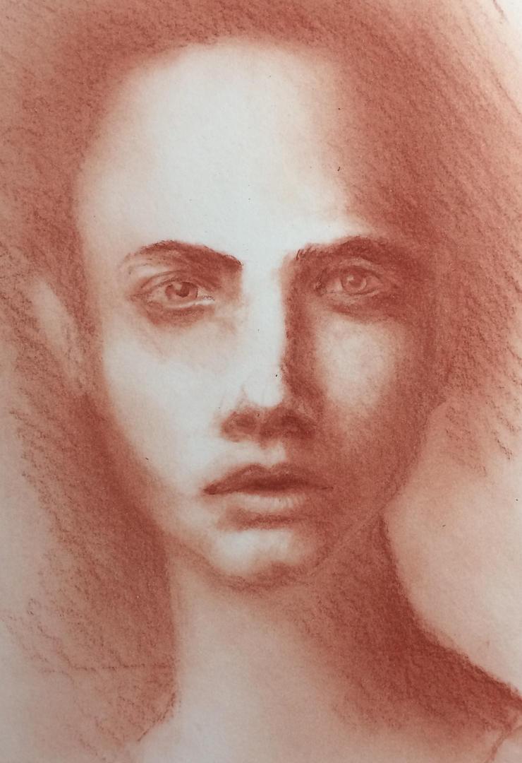 Portrait study 2 by Whitefeatherink
