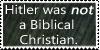 Hitler Was Not a Biblical Christian