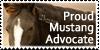 Mustang Advocate stamp by Unicornarama