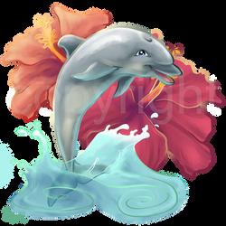 Hibiscus Dolphin