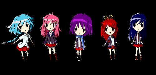 Chibi Lineup by yuusaysso