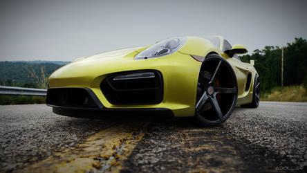 Yellow 2015 Cayman GTS by adollar47