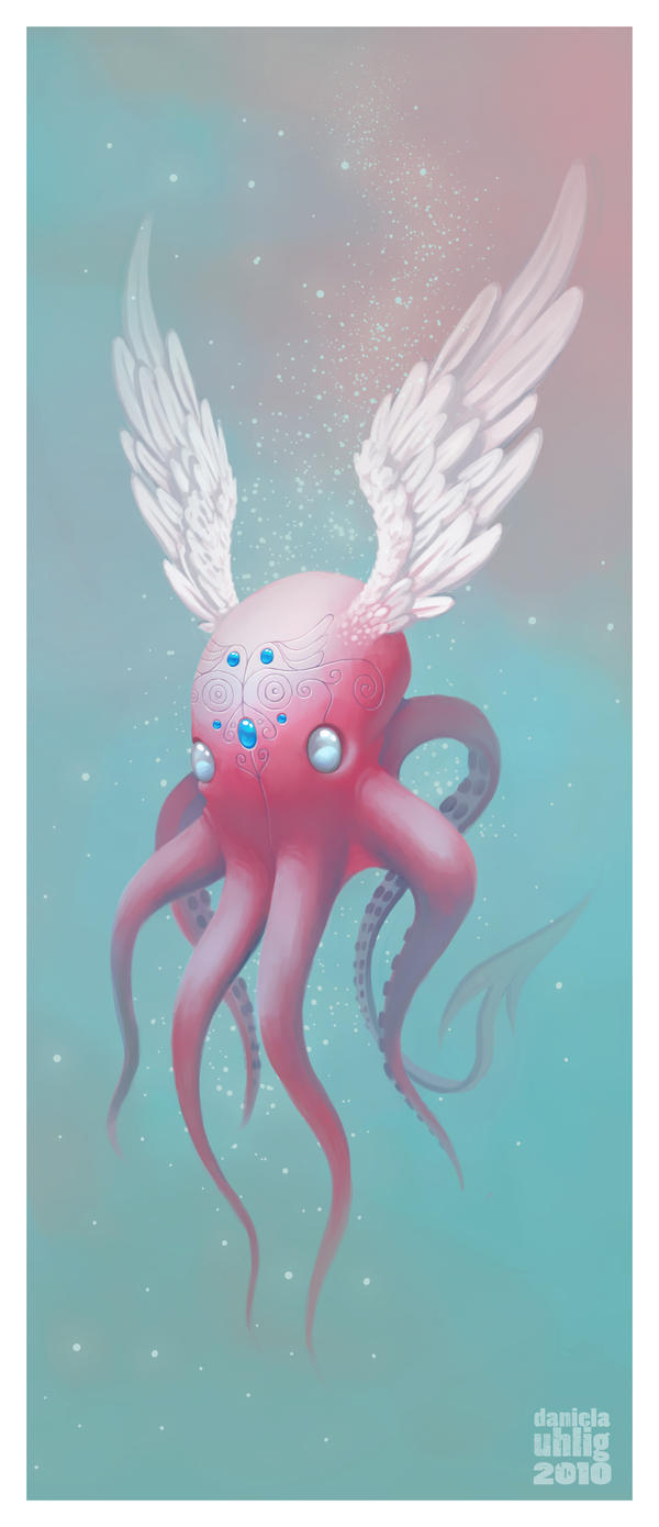 flying octopus by DanielaUhlig