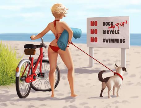 no dogs