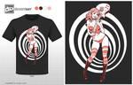 t-shirt design - girl with guitar by DanielaUhlig