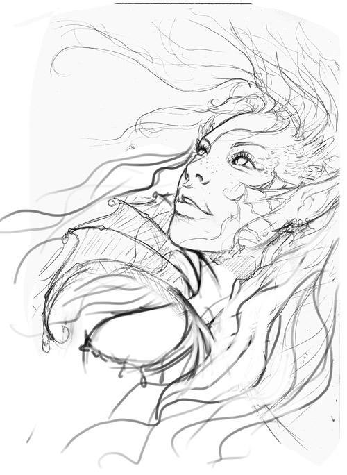 Line Art Underwater : Underwater sketch by danielauhlig on deviantart