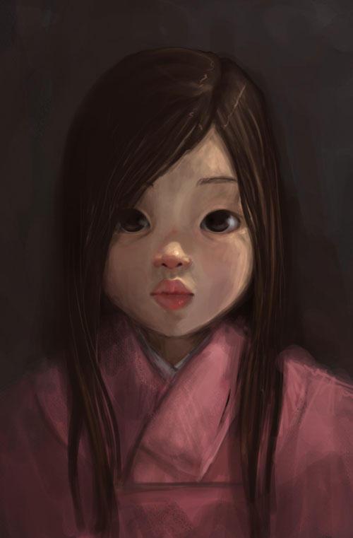 portrait of a girl by DanielaUhlig