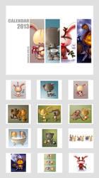 bunny calendar 2013 by DanielaUhlig