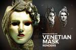 Free 3D Venetian Mask Render