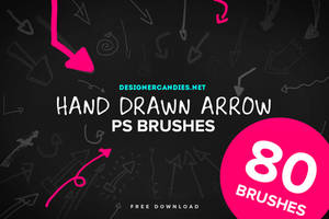 80 Hand Drawn Arrows PS Brush Set by DesignerCandies