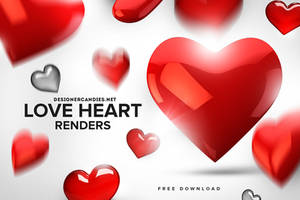 Free Love Heart Renders Pack by DesignerCandies