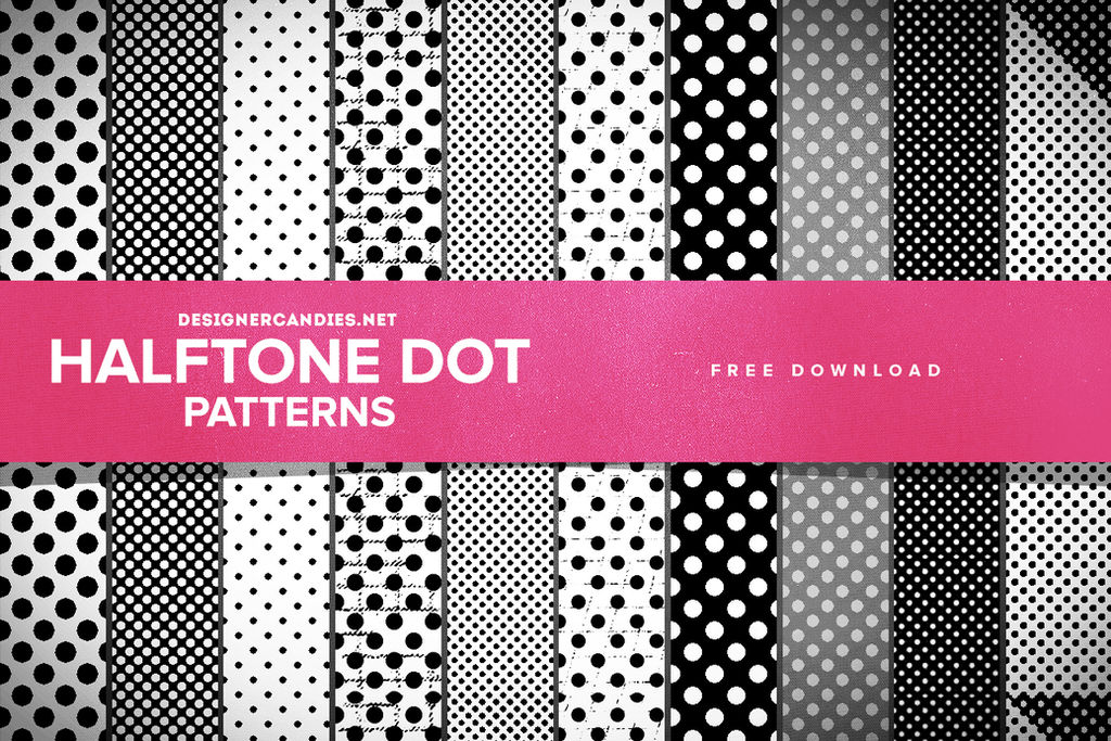 Free Halftone Dot Patterns for Photoshop by DesignerCandies