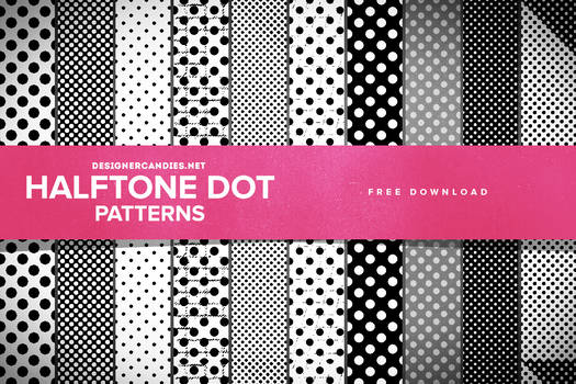 Free Halftone Dot Patterns for Photoshop