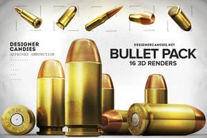 Free 3D Bullet Renders Pack by DesignerCandies