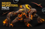 Mixed Monster Renders Pack