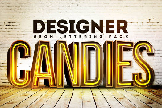 Free 3D Neon Lettering by DesignerCandies