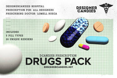 Drug Renders Pack Capsules Tablets and Pills by DesignerCandies