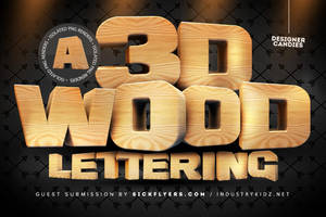 3D Wooden Lettering Pack by DesignerCandies