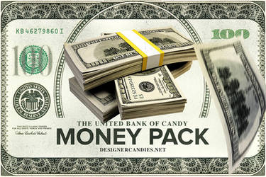 Money Stacks and Falling Money Pack by DesignerCandies