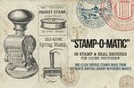 Stamp O Matic A Vintage Stamp and Seal Brush Set