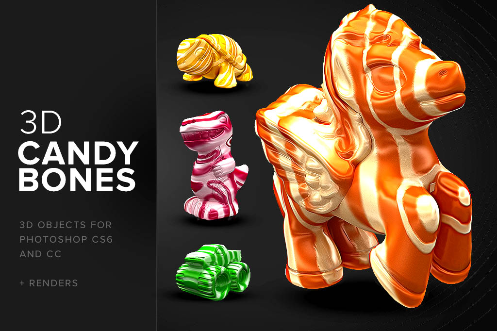 CandyBones Free Photoshop 3D Objects