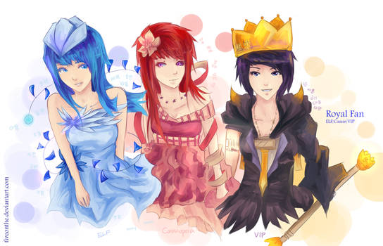 Kpop: Royal fandoms by Fiveonthe