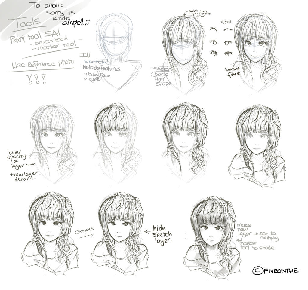 How To Draw A Sketch By Fiveonthe