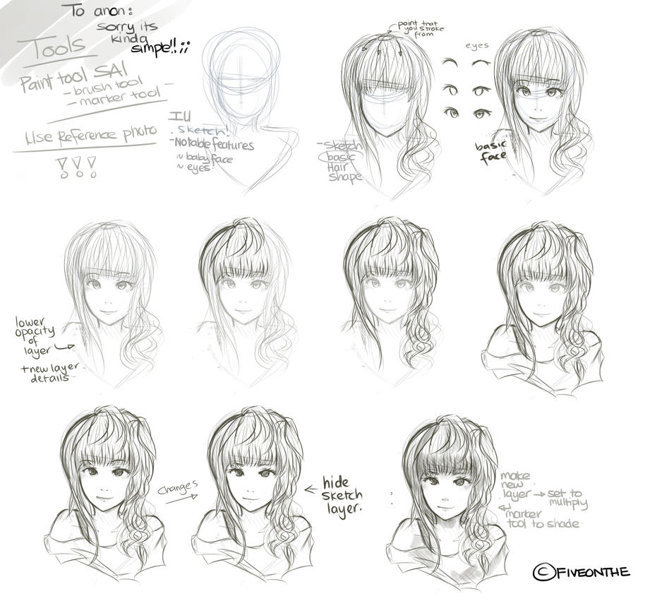 How to draw a sketch by Fiveonthe on DeviantArt
