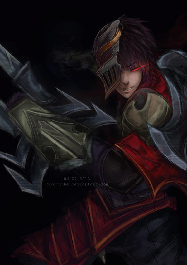 Zed League Of Legends Face LoL: Unmasked Zed by F...