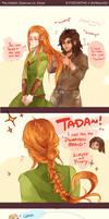 The Hobbit: Braiding Hair