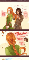 The Hobbit: Braiding Hair