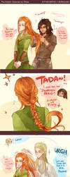 The Hobbit: Braiding Hair by Fiveonthe