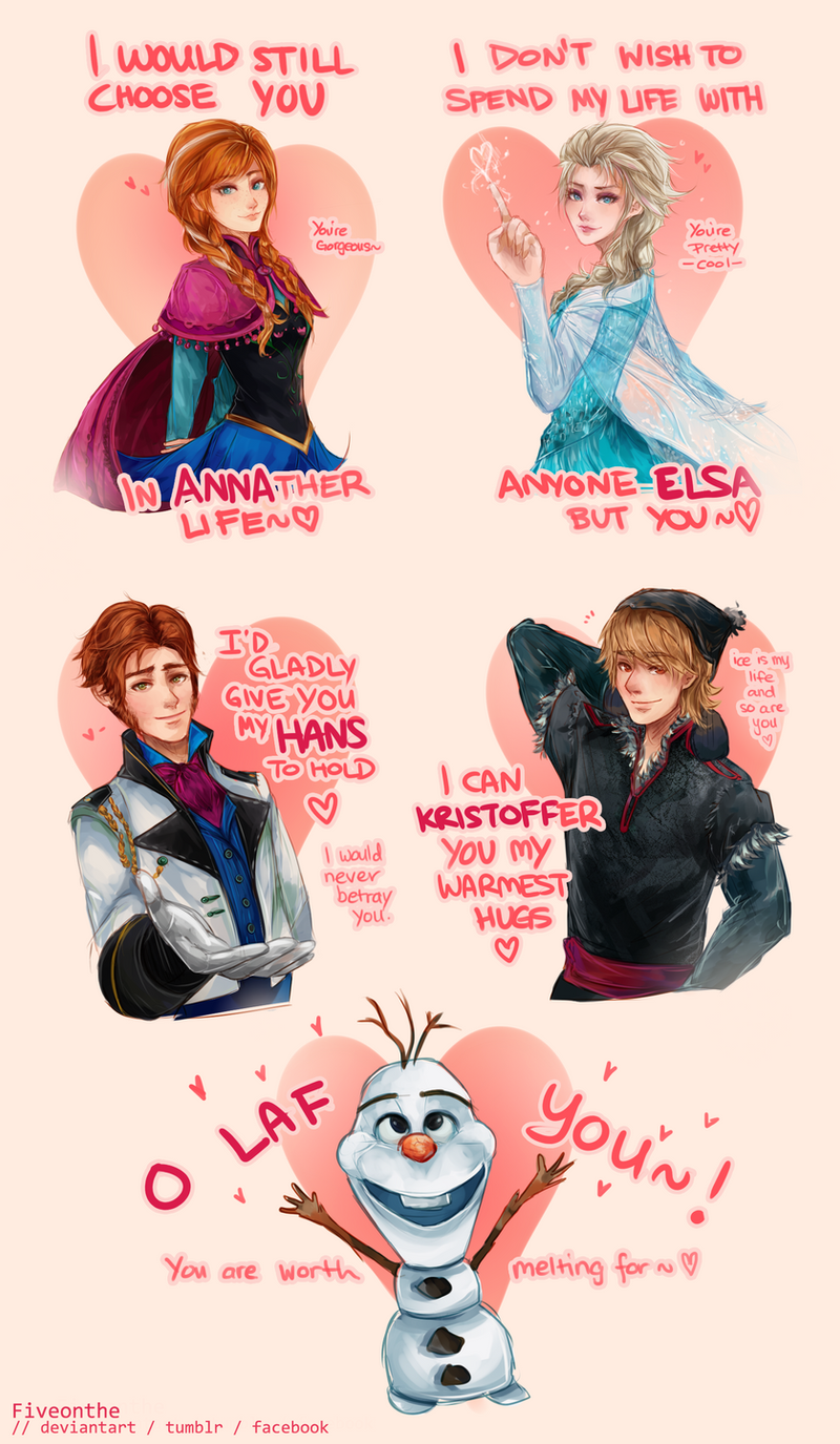FROZEN Valentines Day Cards by Fiveonthe on DeviantArt – Tv Valentines Day Cards