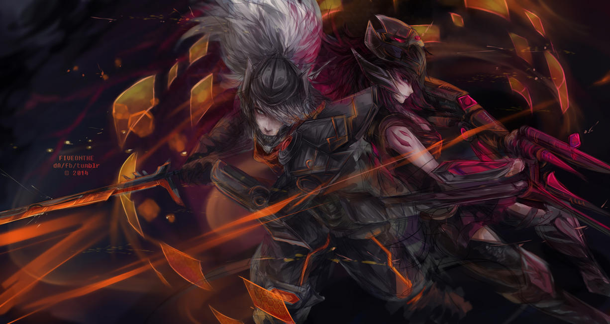 LoL PROJECT Yasuo And Headhunter Caitlyn By Fiveonthe