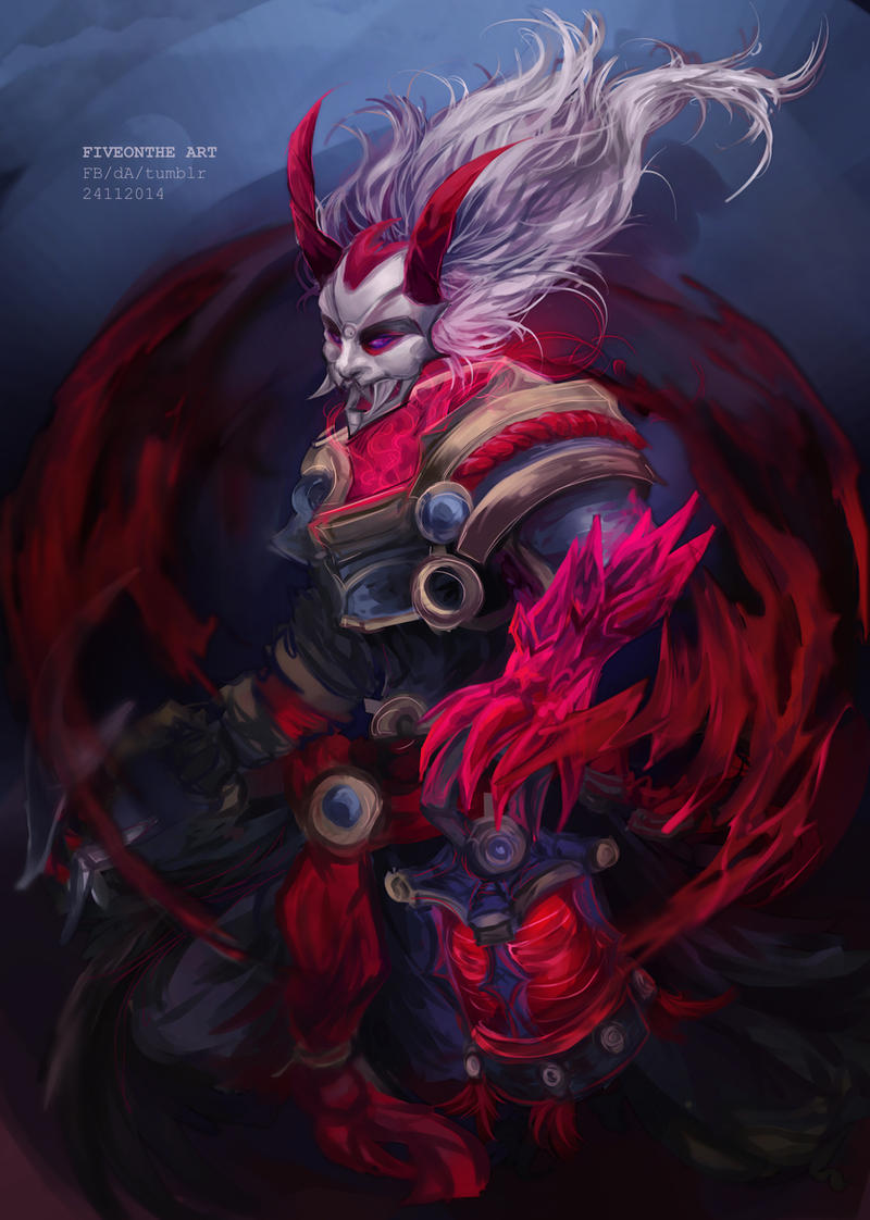 LoL: Blood Moon Thresh by Fiveonthe