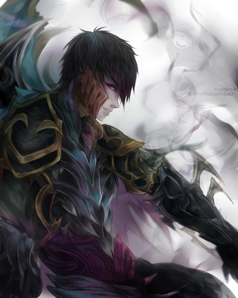 Zed League Of Legends Face LoL: Unmasked Zed II b...