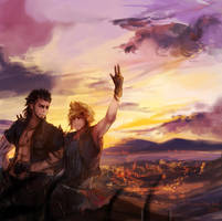 ffxv: on our way by Fiveonthe
