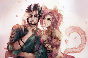 FFXIV: Playful Love by Fiveonthe