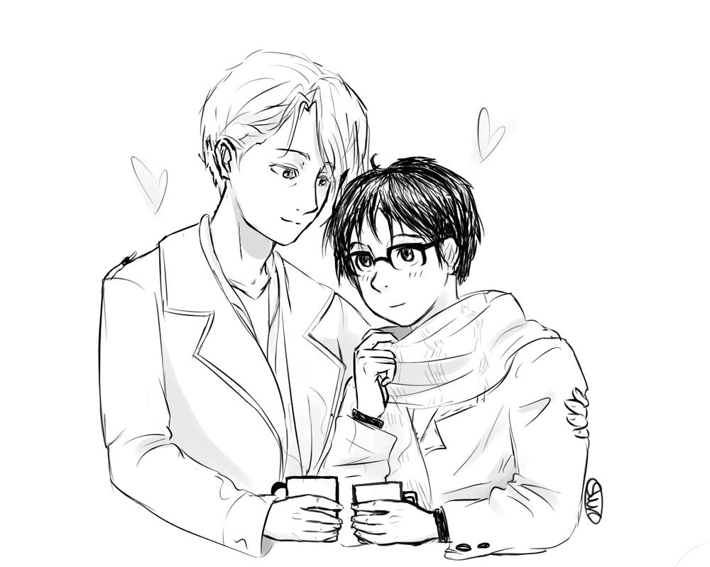 Victor and Yuri again by Swk-artblog