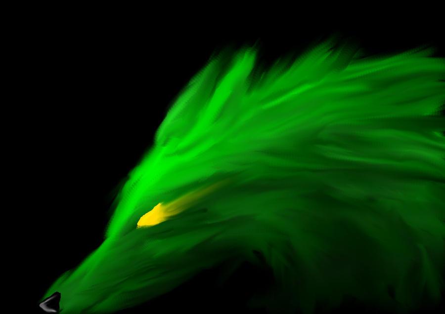 Wolf Neon Green By Blackwolf816