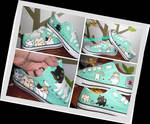 Hand painted kawaii cats shoes