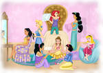 Disney Princesses- Sleepover