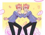 [FA] Devilish Twins | Ouran Highschool Host Club by DragonitaVioleta