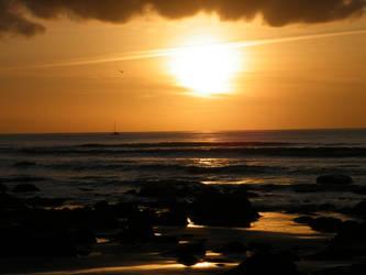Llandanwg Sunset 2 by VampireBait