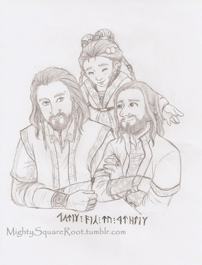 Thorin, Dis and Frerin sketch by Isis-90