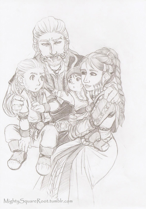 Fili, Kili and their parents sketch by Isis-90