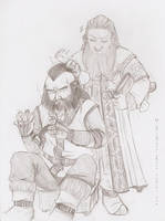 Balin and Dwalin, sons of Fundin sketch by Isis-90
